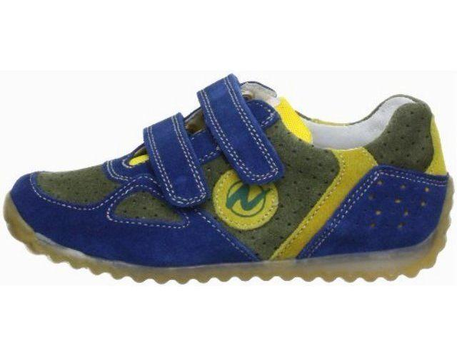 Naturino ISAO Boys Blue Suede Leather Sneakers SZ 5 US 21 EU (Infant)