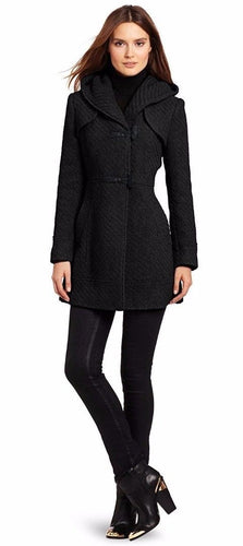 Jessica Simpson Women's Braided Wool-Blend Toggle Coat SZ Large