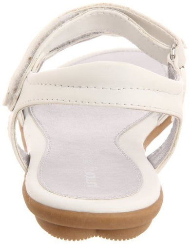 Jumping Jacks Bouquet Girls White Silver Sandals Size 10 Wide