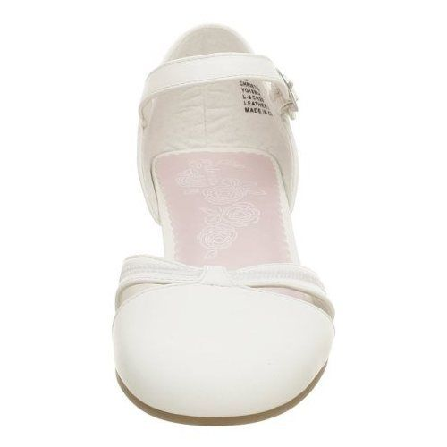 Stride Rite Christine Girls White  Leather Dress Shoes Sandals Size 9.5 M