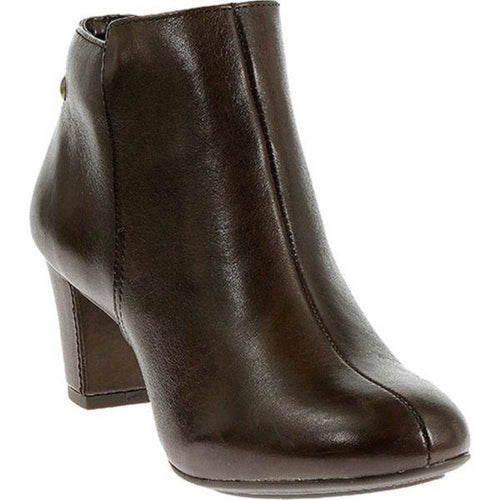 Hush Puppies Corie Imagery Women's Brown Leather Ankle Boots