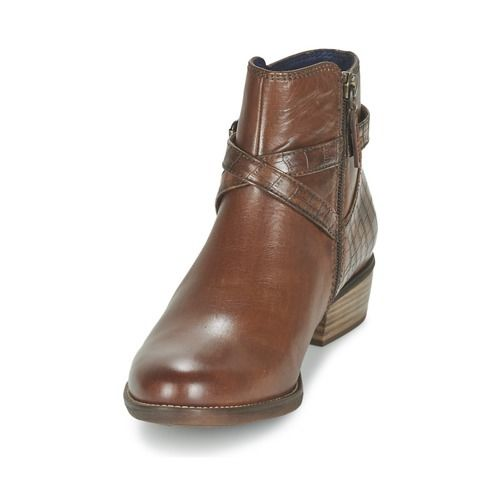Tamaris Marly Womens Brown Leather Ankle Boots