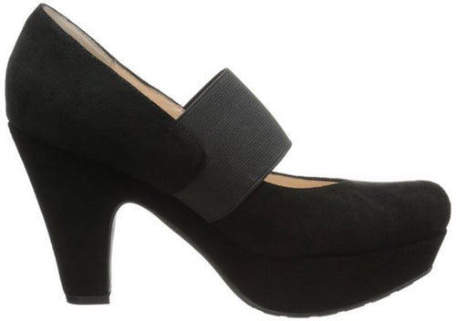 Sacha London Edith Women's Black Suede Peep-Toe Shoes Size 6.5