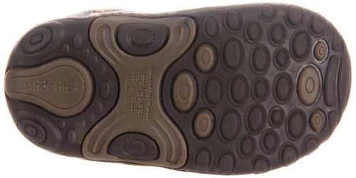 Stride Rite Will Infant Boys Brown Leather Shoes
