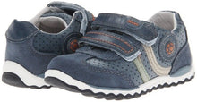 Beeko Blake Boys Navy Leather Shoes SZ 7