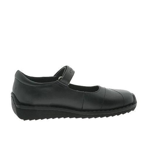 Nina Tassel Girls Black Leather Mary Jane Shoes