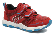 Geox Jr. Torque Boys Red Leather Sneakers SZ 10.5 (Little Kid)