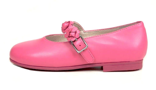 Pasitos Justine Girls PInk Leather Dress Shoes