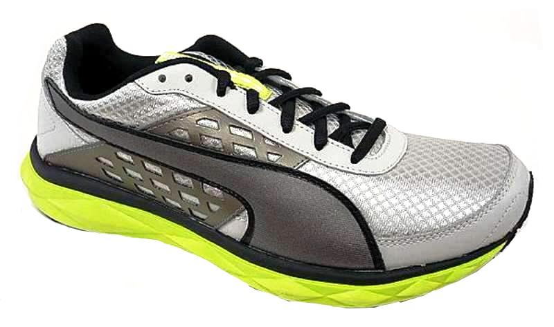Puma PumaGility Speed Mens Lime Gray Silver Running Shoes SZ 7.5
