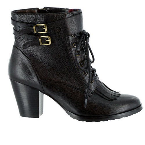 Bella-Vita Kody Women's Black Leather Ankle Boots