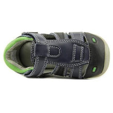 Jumping Jacks Maxwell Boys Navy Leather Sandals  Size 4-4.5 Wide