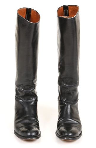 Dehner Women's Black Leather Motorcycle Riding Boots SZ 6