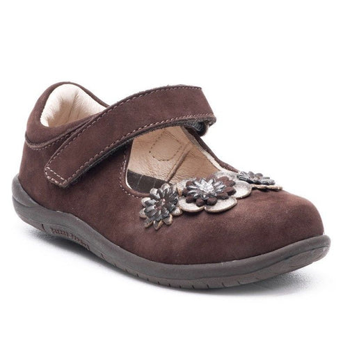 Stride Rite Kennedy Infant Girls Brown Suede Mary Jane Shoes
