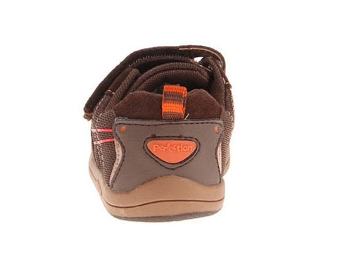 Jumping Jacks Lazer Boys Brown Suede Sneakers Shoes