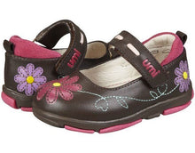 Umi Laraa Girls Brown w Flowers Leather Mary Jane Shoes Size 22 EU 6.5 US (Infants)