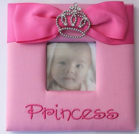 Princess Pink Girls Frame w/ Jewel Crown