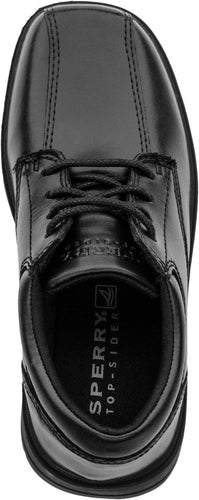 Sperry Top Sider Nathaniel Black Leather Lace Dress Shoes