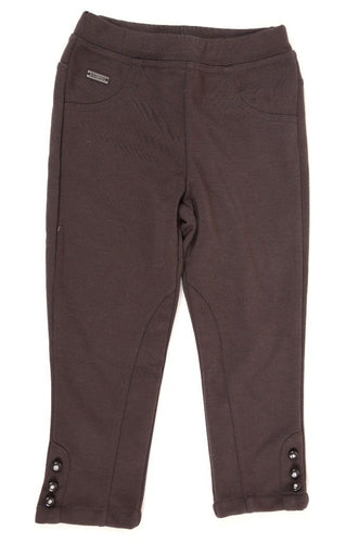 Boboli Girls Designer Brown Stretch Leggings