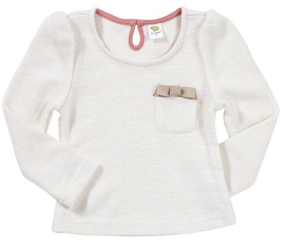 Dino Bebe Girls Cream Ribbed Bow Sweater SZ 6