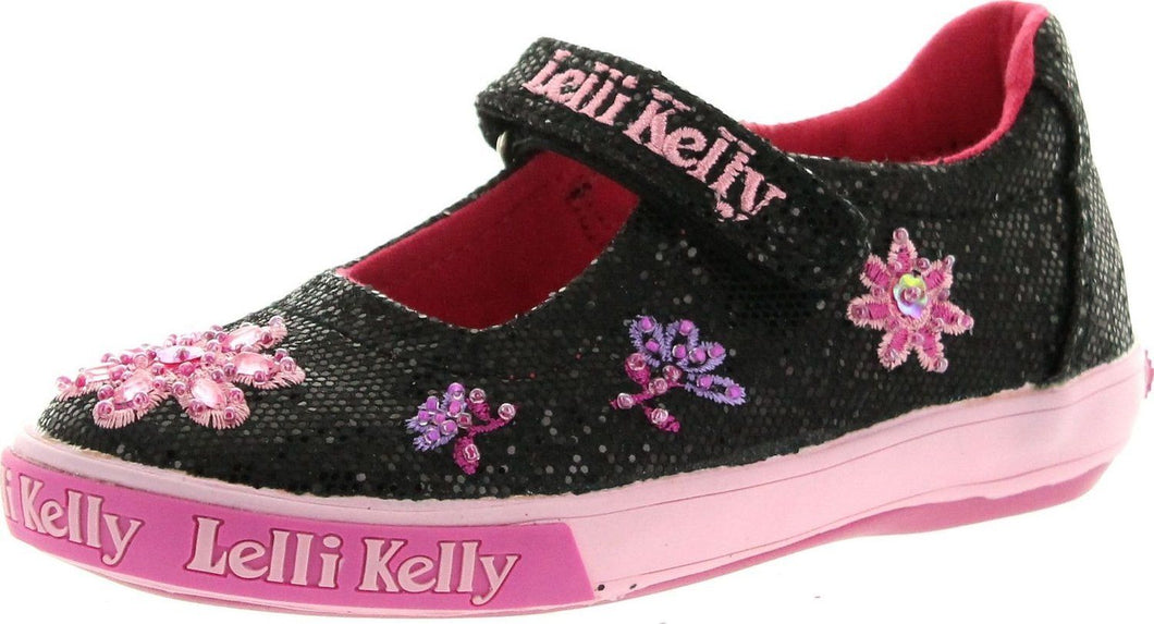 Lelli Kelly Jasmine Girls Glitter Mary Jane Shoes SZ 25 EU 8 US