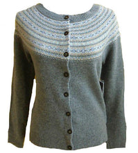 Lambswool Grey Cardigan Sweater Size Small