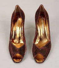 Giuseppe Zanotti Women's Bronze Metallic Evening Pumps SZ 10