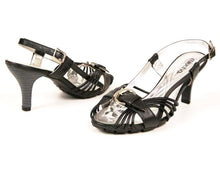 Miucha Monica Women's Black Leather Heel Sandal  SZ 7