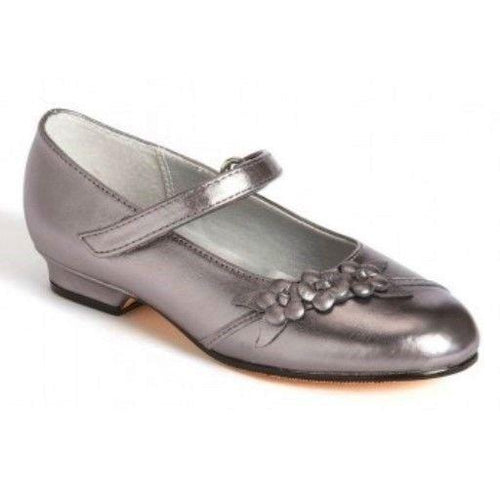 Jumping Jacks Amber Girls Pewter Mary Jane Dress Shoes
