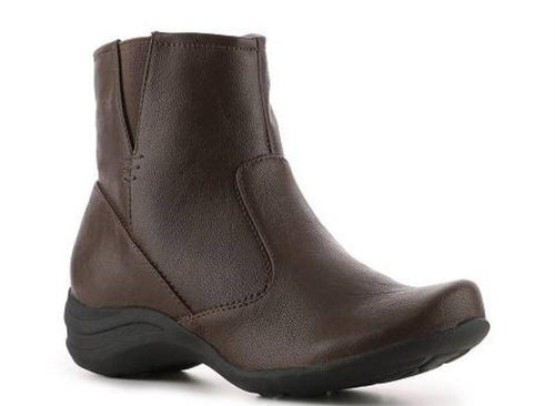Hush Puppies Fiona Alternative Women's Brown Leather Boots SZ 10