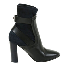 Chloe Dark Blue Suede And Black Leather Ankle Boots  SZ 37 | 6.5