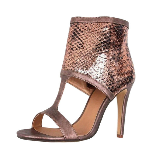 Luichiny Double Digit Snake  & Copper Metallic Sandals