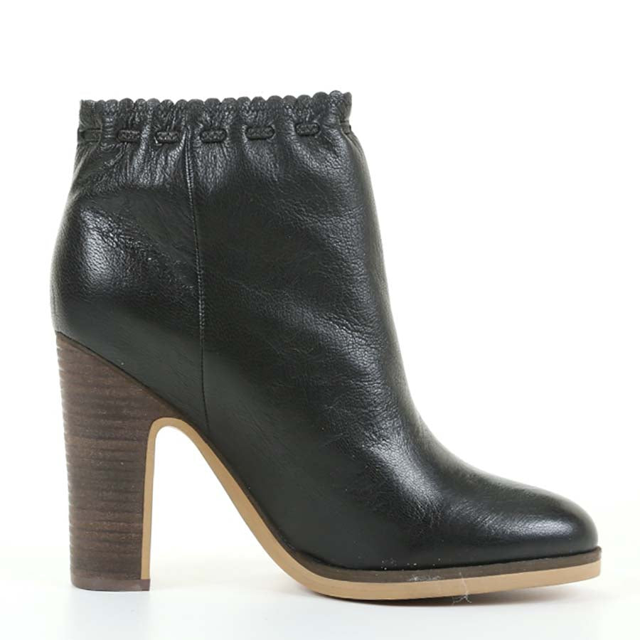 See By Chloe Women's Black Leather Ankle Bootie SZ 40 | 9.5