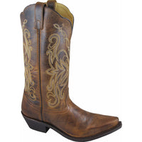 Smoky Mountain Madison Brown Leather Western Boots Size 10