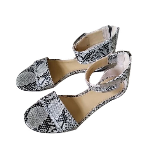 Rachel Zoe Gladys Snakeskin Leather Sandals Size 6.5