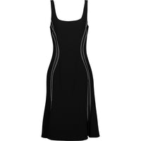 Altuzarra Sophia Sleeveless Flounce-Hem Black Dress 42 | 8