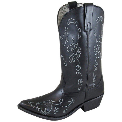 Smoky Mountain Jolene Black Leather Western Boots Size 9