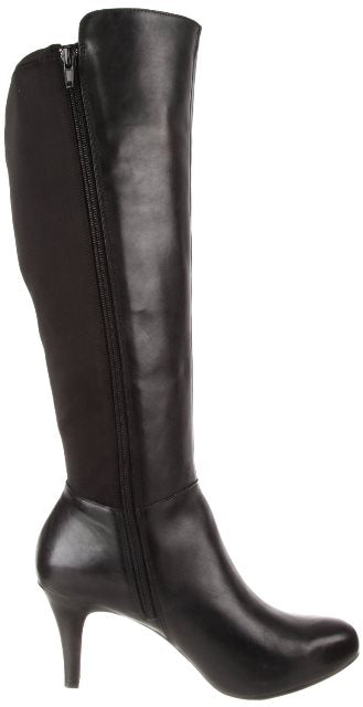 Me Too Marley Women's Black Leather Stretch Boots SZ 10