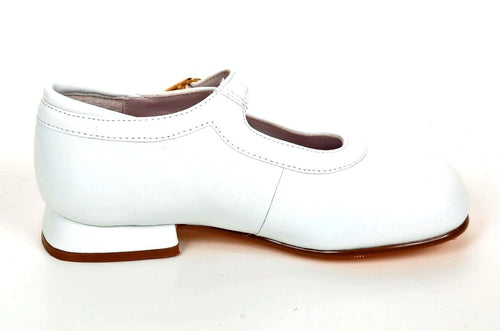 Jumping Jacks Amy Girls White Leather Dress Shoes