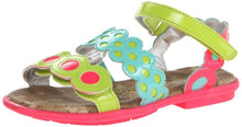 Kenneth Cole Hook Up 2 Neon Multi Color Velcro Sandals SZ 8