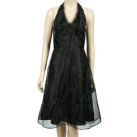 Wtoo by Watters Vintage Black Halter Dress | Size 2