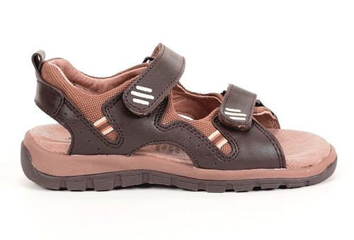 Jumping Jacks Andy Boys Brown Leather Sandals