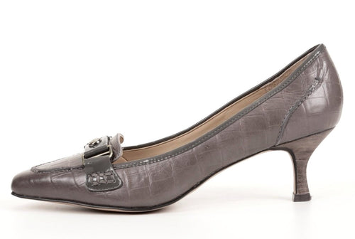 Joan & David Circa Cathleen Women's Dark Gray Leather Heels SZ 6.5