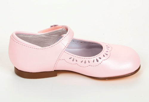Jumping Jacks Anna Rose Girls Pink Leather Dress Shoes