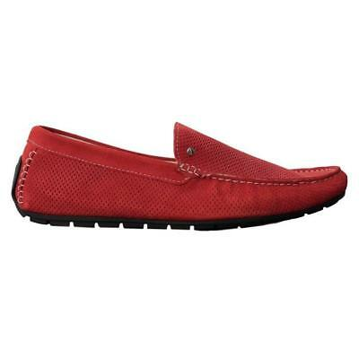 INTERLAND (Italy) Suede Perforated Loafers Size 44 / 11