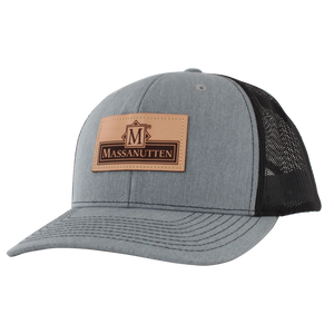 Massanutten Souvenir Leather Patch Classic Logo Trucker Cap