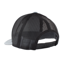 Heather Grey/Black Massanutten Leather Patch Trucker Cap Back