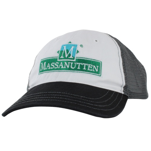 Massanutten Souvenir logo garment-washed, mesh back trucker cap