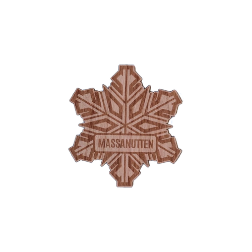Wood Stickers Snowflake