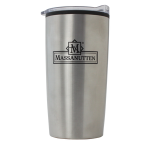 Massanutten Souvenir Classic Logo Metal Travel Coffee Cup Mug