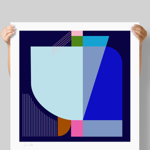Blue Swell 90cm Limited Edition Print by Michele Luminato